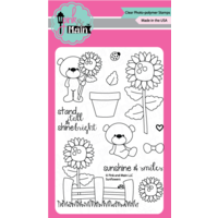 "Pink & Main Clear Stamp 4x6"" Sunflowers"