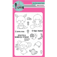 "Pink & Main Clear Stamp Set 4x6"" Koalaty Friends"