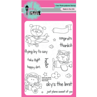 "Pink & Main Clear Stamp Set 4x6"" Plane Sweet"