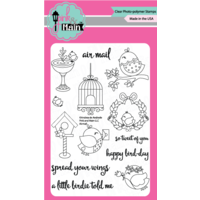 "Pink & Main Clear Stamp Set 4x6"" Airmail"