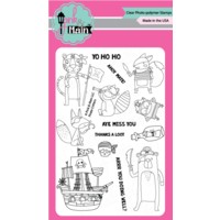 "Pink & Main Clear Stamp Set 4x6"" Pirate Critters"