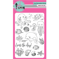 "Pink & Main Clear Stamp Set 4x6"" Seas the Day"