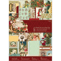 Papermania Victorian Christmas A4 Diecut & Paper Pack