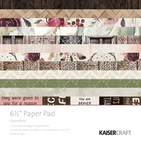 "Kaisercraft Gypsy Rose 6.5"" Paper Pad"