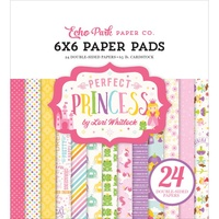 "Echo Park 6x6"" Double Sided Paper Pad 24pg Perfect Princess by Lori Whitlock"
