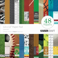 "Kaisercraft Game On! 12x12"" Paper Pad 48pg"