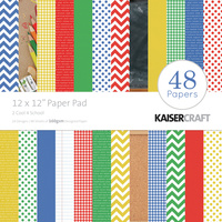 "Kaisercraft 2 Cool 4 School 12x12"" Paper Pad 48pg"