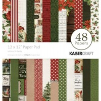 "Kaisercraft Letters to Santa 12x12"" Paper Pad 48pg"
