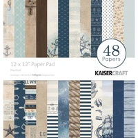 "Kaisercraft Nautical 12x12"" Paper Pad 48pg"