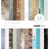 "Kaisercraft Basecoat #4 12x12"" Paper Pad 48pg"