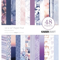 "Kaisercraft Misty Mountains 12x12"" Paper Pad 48pg"