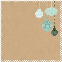 "Kaisercraft Mint Wishes 12x12"" Die Cut Paper Gingerbread Cookie"