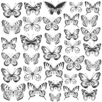 "Kaisercraft Romantique 12x12"" Acetate Butterflies"