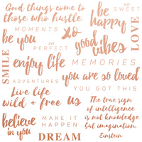 "Kaisercraft Misty Mountains 12x12"" Foil Paper Be You Quotes"