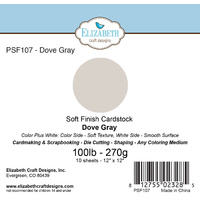 "Elizabeth Craft Designs Soft Finish Cardstock 12x12"" 10pk Dove Gray"