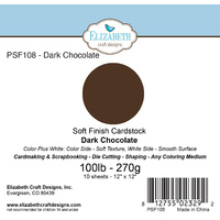"Elizabeth Craft Designs Soft Finish Cardstock 12x12"" 10pk Dark Chocolate"