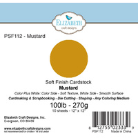 "Elizabeth Craft Designs Soft Finish Cardstock 12x12"" 10pk Mustard"