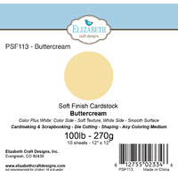 "Elizabeth Craft Designs Soft Finish Cardstock 12x12"" 10pk Buttercream"