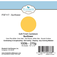 "Elizabeth Craft Designs Soft Finish Cardstock 12x12"" 10pk Sunflower"