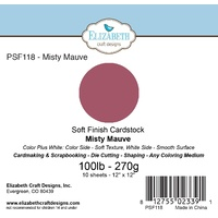"Elizabeth Craft Designs Soft Finish Cardstock 12x12"" 10pk Misty Mauve"