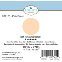 "Elizabeth Craft Designs Soft Finish Cardstock 12x12"" 10pk Pale Peach"