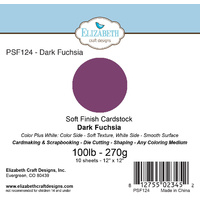 "Elizabeth Craft Designs Soft Finish Cardstock 12x12"" 10pk Dark Fuchsia"