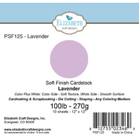 "Elizabeth Craft Designs Soft Finish Cardstock 12x12"" 10pk Lavender"