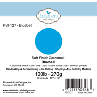 "Elizabeth Craft Designs Soft Finish Cardstock 12x12"" 10pk Bluebell"