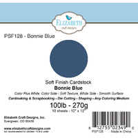 "Elizabeth Craft Designs Soft Finish Cardstock 12x12"" 10pk Bonnie Blue"