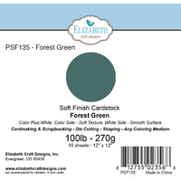 "Elizabeth Craft Designs Soft Finish Cardstock 12x12"" 10pk Forest Green"