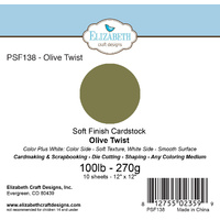 "Elizabeth Craft Designs Soft Finish Cardstock 12x12"" 10pk Olive Twist"