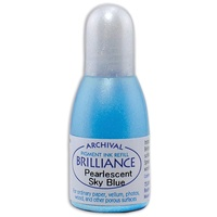 Tsukineko Brilliance Pigment Ink Refill Pearlescent Sky Blue