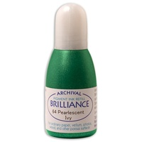 Tsukineko Brilliance Pigment Ink Refill Pearlescent Ivy