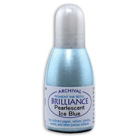 Tsukineko Brilliance Pigment Ink Refill Pearlescent Ice Blue