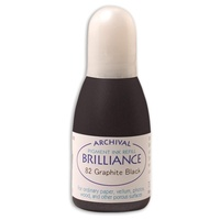 Tsukineko Brilliance Pigment Ink Refill Graphite Black