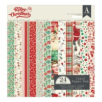 "Authentique 12x12"" Cardstock Pad Retro Christmas"