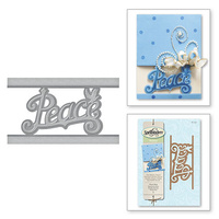 Spellbinders Holiday Die Peace Strip