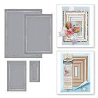Spellbinders Shapeabilities Die Venise Lace Hemstitch Rectangles by Becca Feeken
