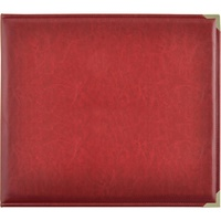 Kaisercraft D-Ring Leather Album Deep Red