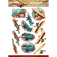 Find It Trading Vintage Vehicles 3D Punchout Sheet Planes by Amy Design