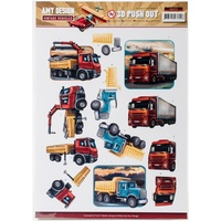 Find It Trading Vintage Vehicles 3D Punchout Sheet Heavy Equipment by Amy Design