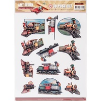 Find It Trading Vintage Vehicles 3D Punchout Sheet Trains by Amy Design