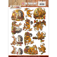 Find It Trading Autumn Colors Decoupage Punchout Sheet Animals by Yvonne Creations