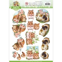 Find It Trading Sweet Pet Punchout Sheet Hamsters & Guines Pigs by Amy Design