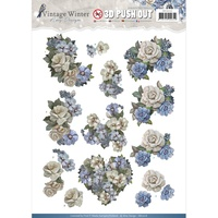 Find It Trading Vintage Winter 3D Punchout Sheet Winter Flowers