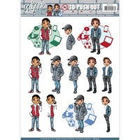 Find It Trading Wild Boys Punchout Sheet Chill Time by Yvonne Creations