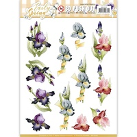 Find It Trading Early Spring Punchout Sheet Irises by Marieke