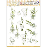Find It Trading Early Spring Punchout Sheet Early Snowdrops by Marieke