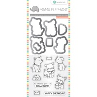"Mama Elephant Stamp & Die Set 4x8"" Puppy Play"