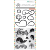 Mama Elephant Stamp & Die Set Whale Thanks